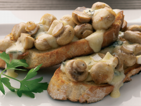 Cheese and Mushroom Toast Recipe