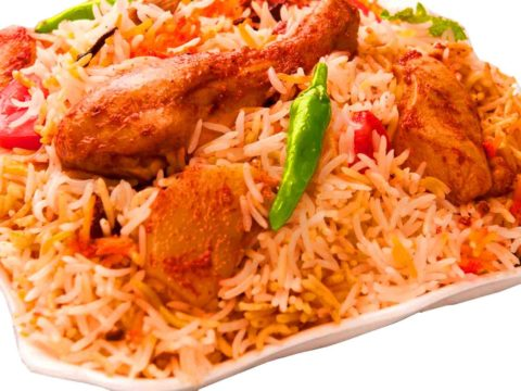Degi Biryani In A Plate On White Background